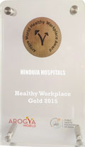 Arogya World Healthy Workplace Gold Level Award