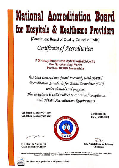 NABH Accreditation Standards for Ethics Committee