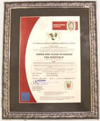 Green and Clean Hospital Platinum Certificate by Bureau Veritas, supported by GSK