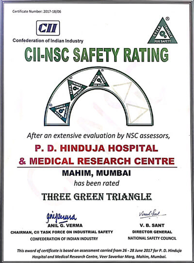 CII NSC Safety Ratings Certificate