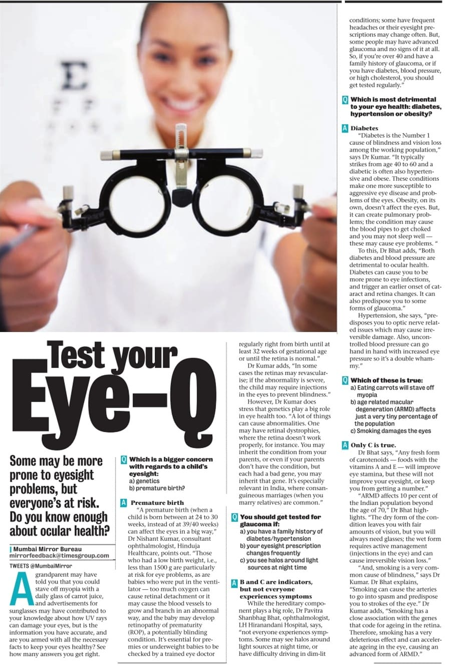 Test your Eyw- Q - Hinduja Healthcare