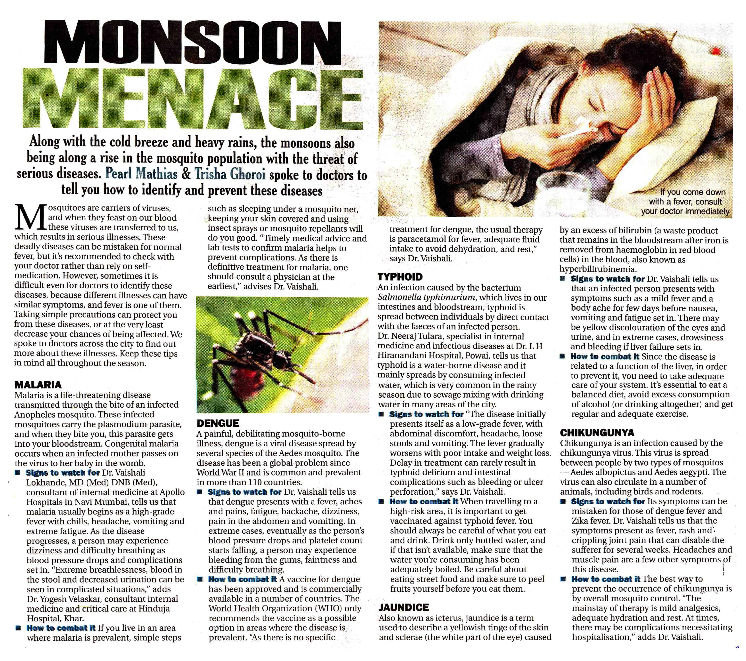 Monsoon Menace - Hinduja Healthcare