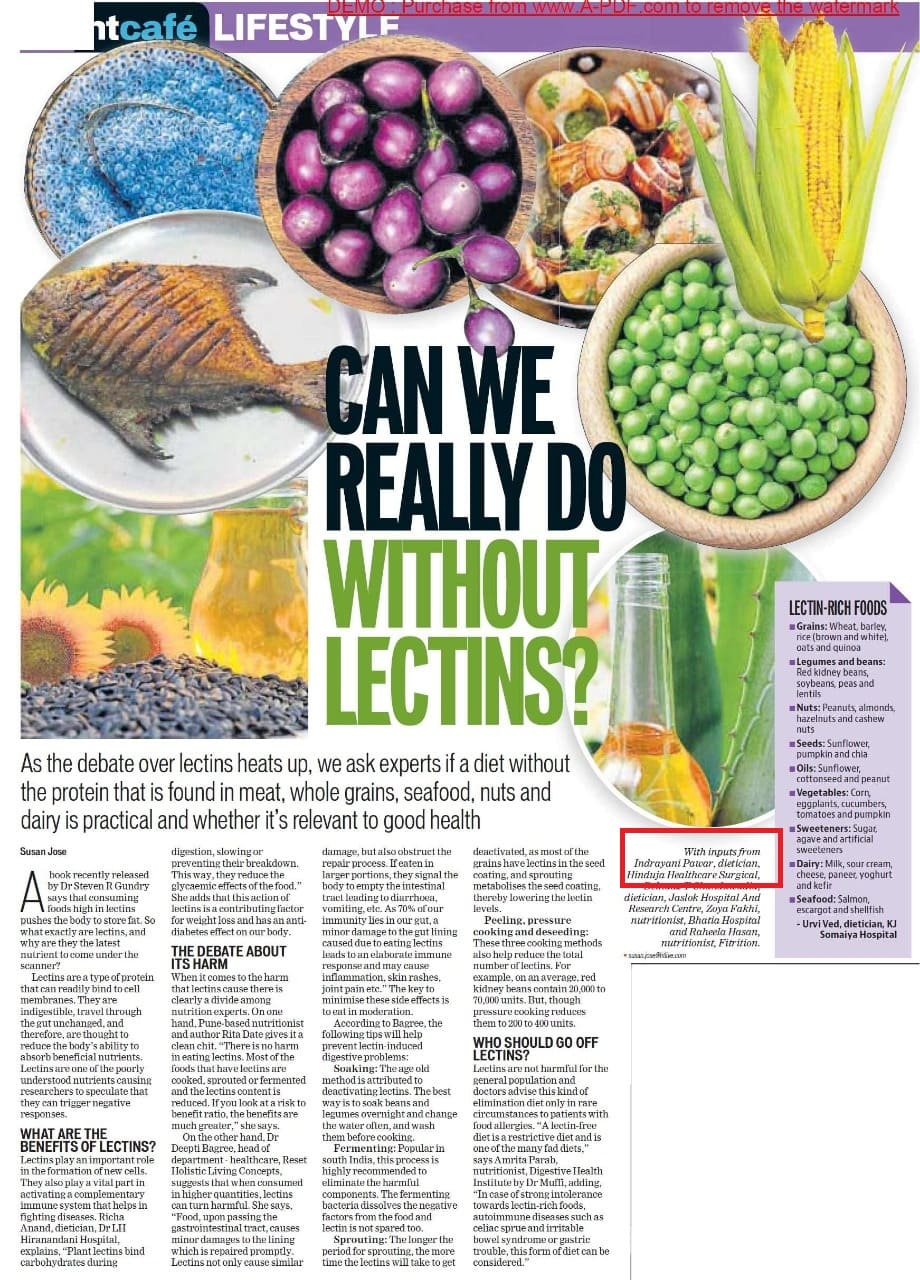 Can we really do without lectins - Hinduja Healthcare