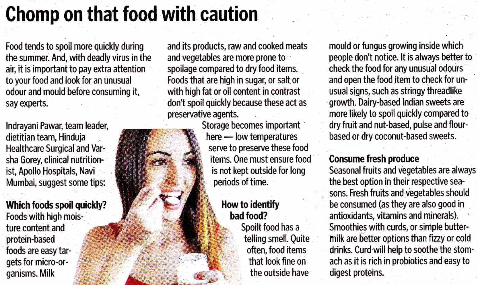 Comp on that food with caution - Hinduja Healthcare