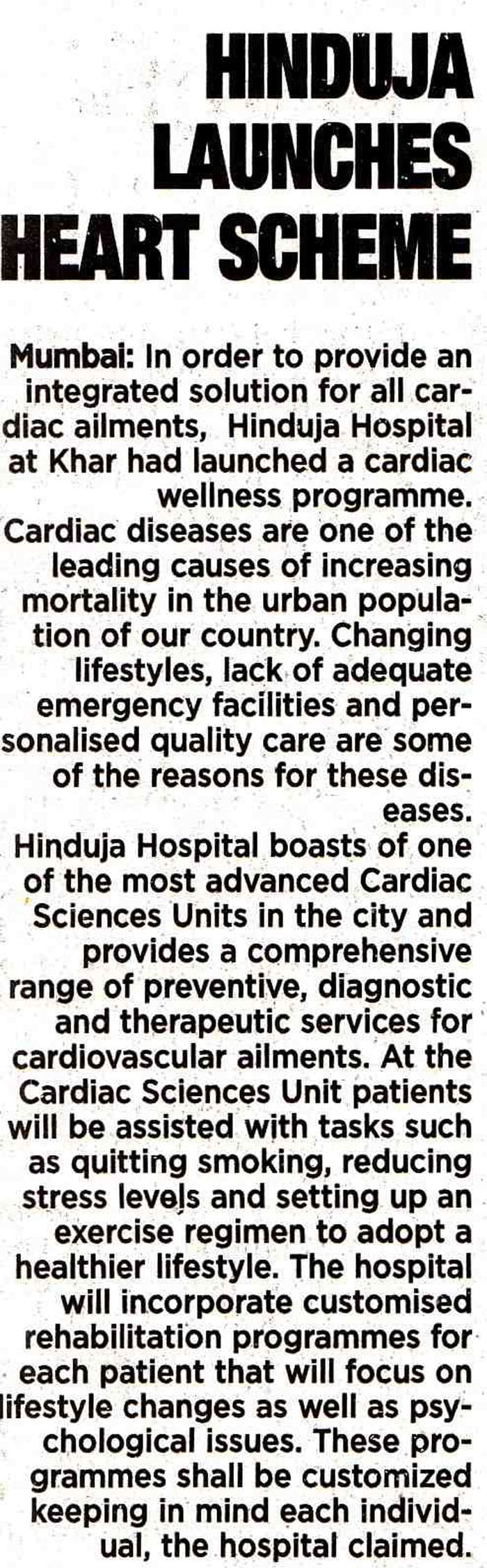 Hinduja HealthCare -  Article 4