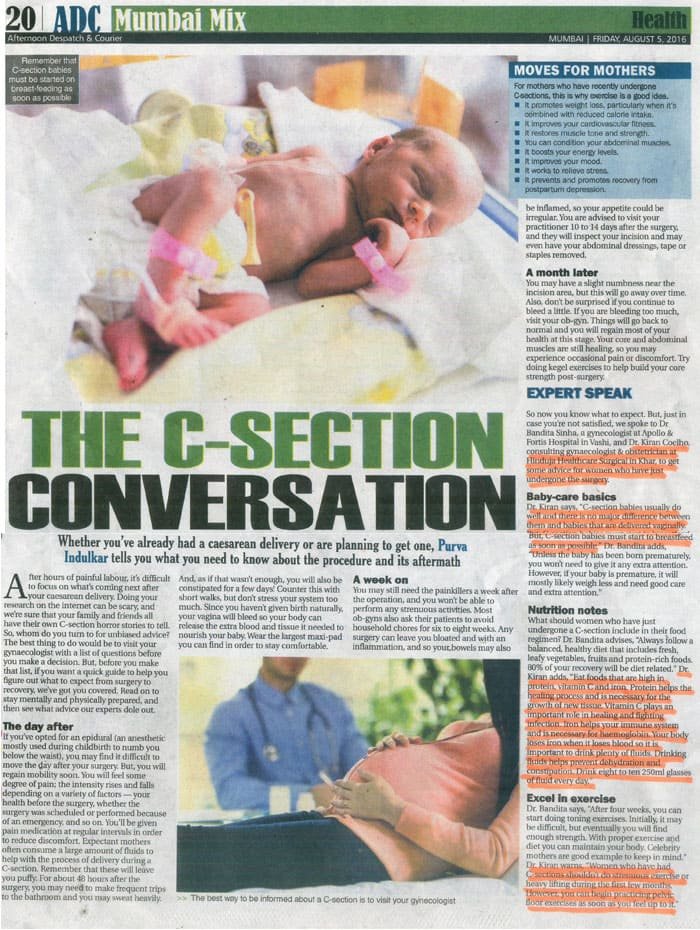 Hinduja HealthCare - C Section Article