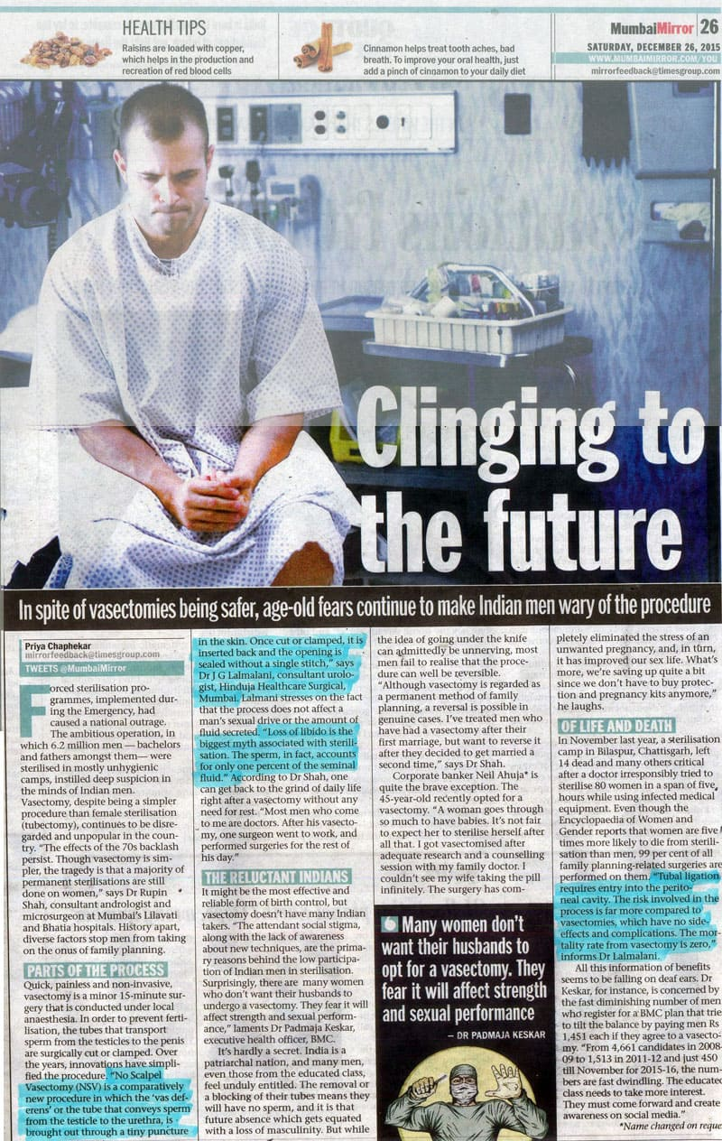 Hinduja HealthCare - Mumbai Mirror Article 3