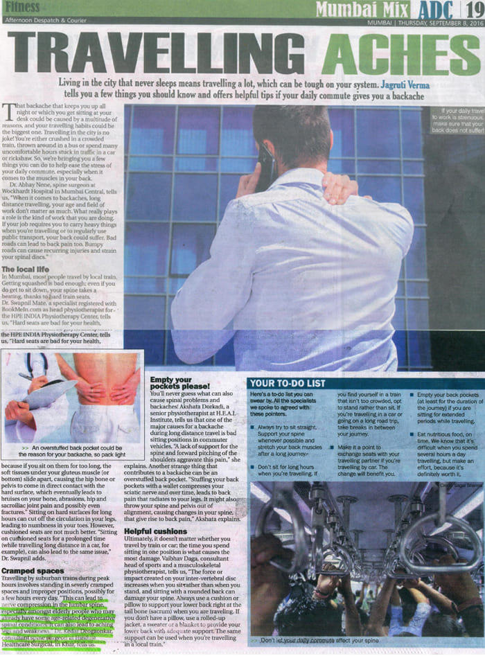Hinduja HealthCare - Traveling Aches Article