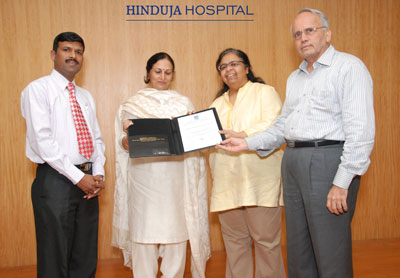 P  D  Hinduja Hospital is HACCP certified by DNV, Netherlands
